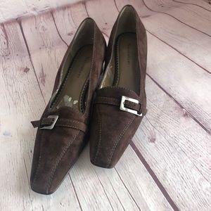[Naturalizer] brown suede heels
